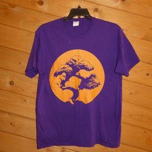 Purple Men's Bonsai Tree Japanese Graphic T-Shirt